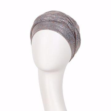 Zoya Turban Grey melange w/ glitter