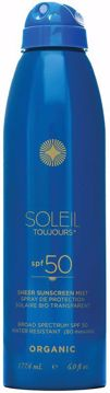 Organic Sheer Sunscreen Mist Spf 50 177 ml