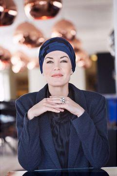 Karma turban w/headband - printed 1009-0440